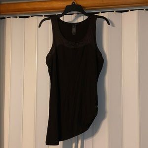 Ruched knit sleeveless top with bling!